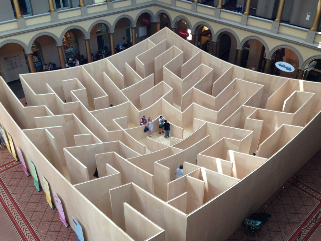 The Big Maze National Building Museum The Roarbotsthe