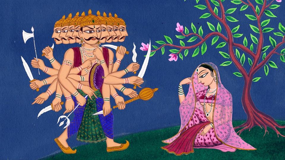 RavanaSitaPainting